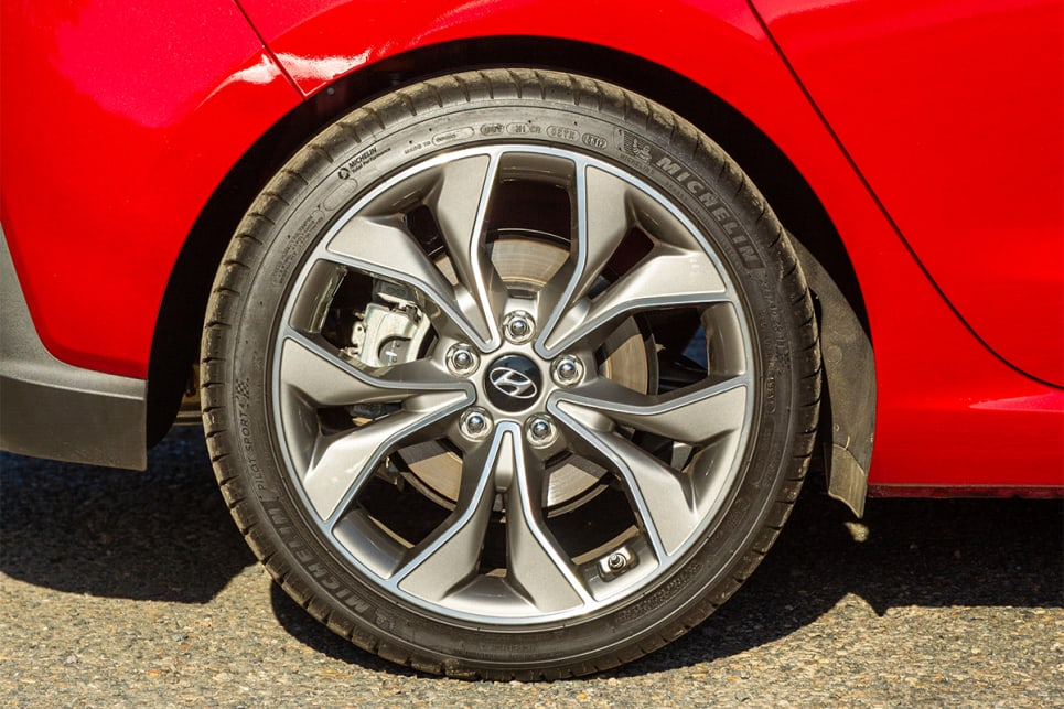 This model i30 comes standard with 18-inch N Line wheels.