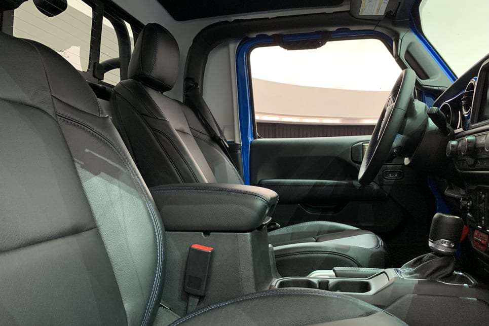 The J6 has a single cab layout and an extra bit of tray space. (image: Matt Campbell)