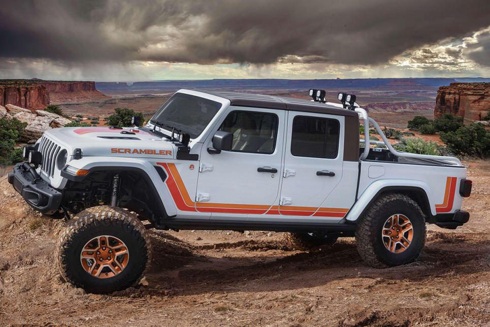 The early-80s-inspired Jeep JT Scramber is a Gladiator that wears its throwback colour scheme really well.