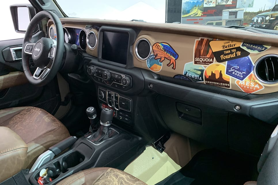 It also features sticker-bombed dash panels. (image: Matt Campbell)