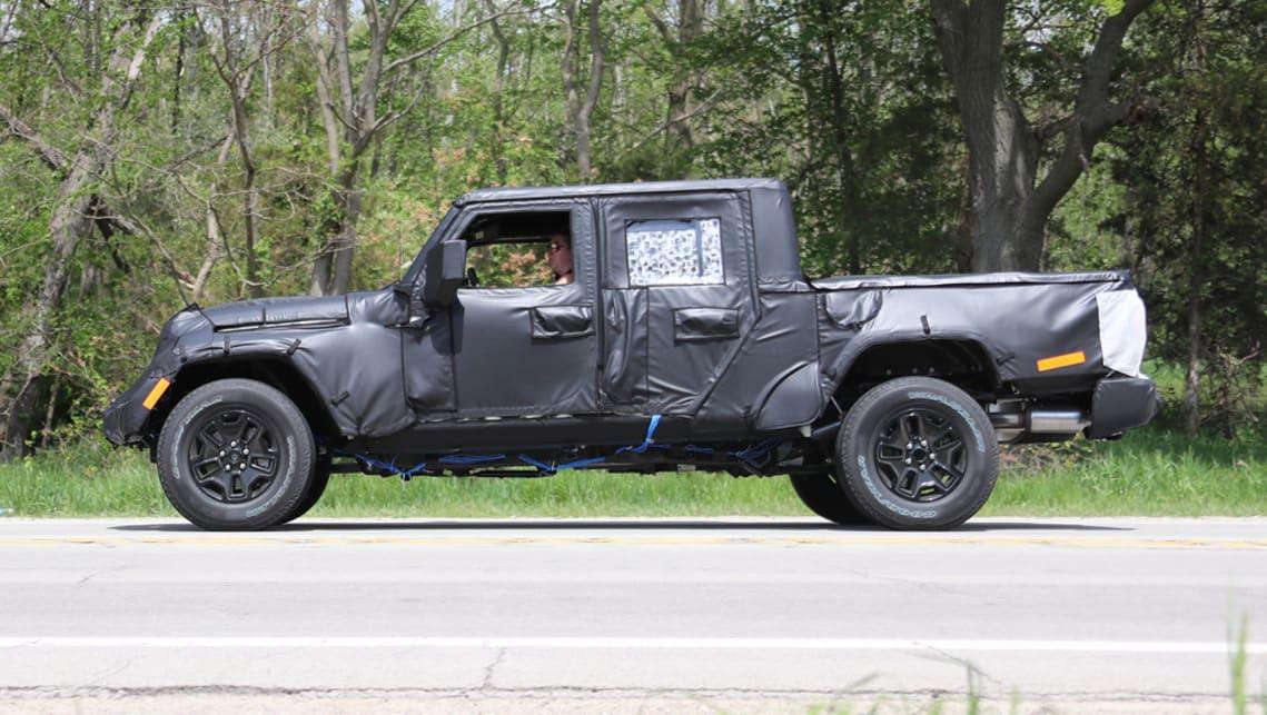 Jeep Wrangler Ute 2018 Spy Shots Car News Carsguide