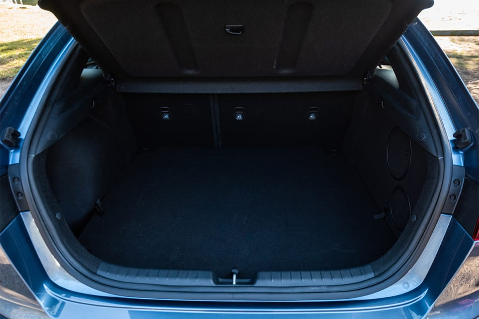 Cargo capacity is rated at 428-litres, which is measured to the roof.