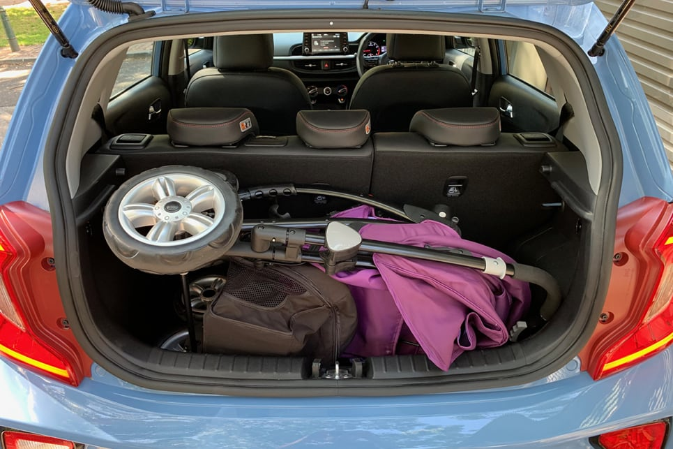 The boot had enough room to fit a pram in there. A particularly bulky pram that won't even fit in a Mazda CX-3.