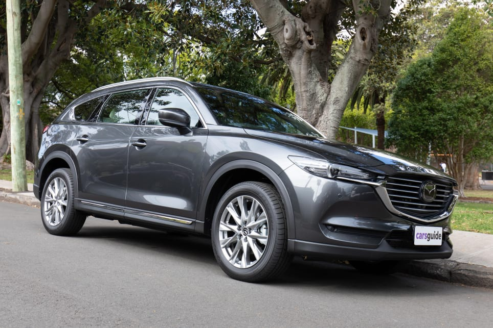 The Mazda CX-8 combines the width and interior of the CX-5 with the length and extra seats of the CX-9.