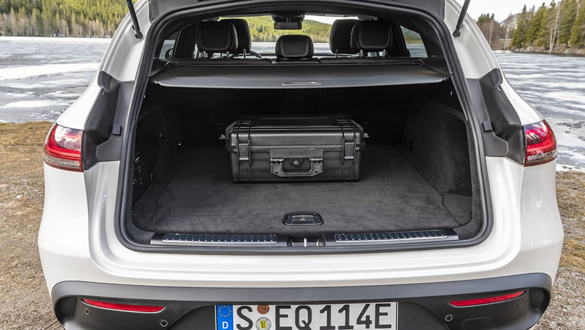 The boot opens to reveal an SUV-style storage space that will swallow 500 litres of luggage.
