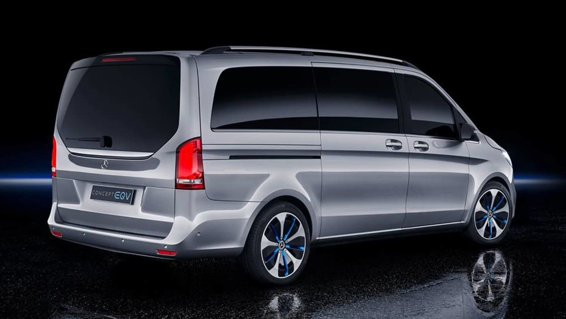 The Mercedes-Benz EQV is a luxury people mover with a fully electric powertrain and seating for eight adults.