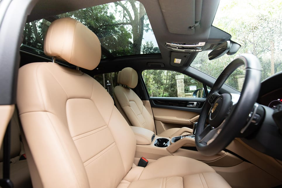 Inside is quite luxurious, with leather everywhere you look. (image: Dean McCartney)