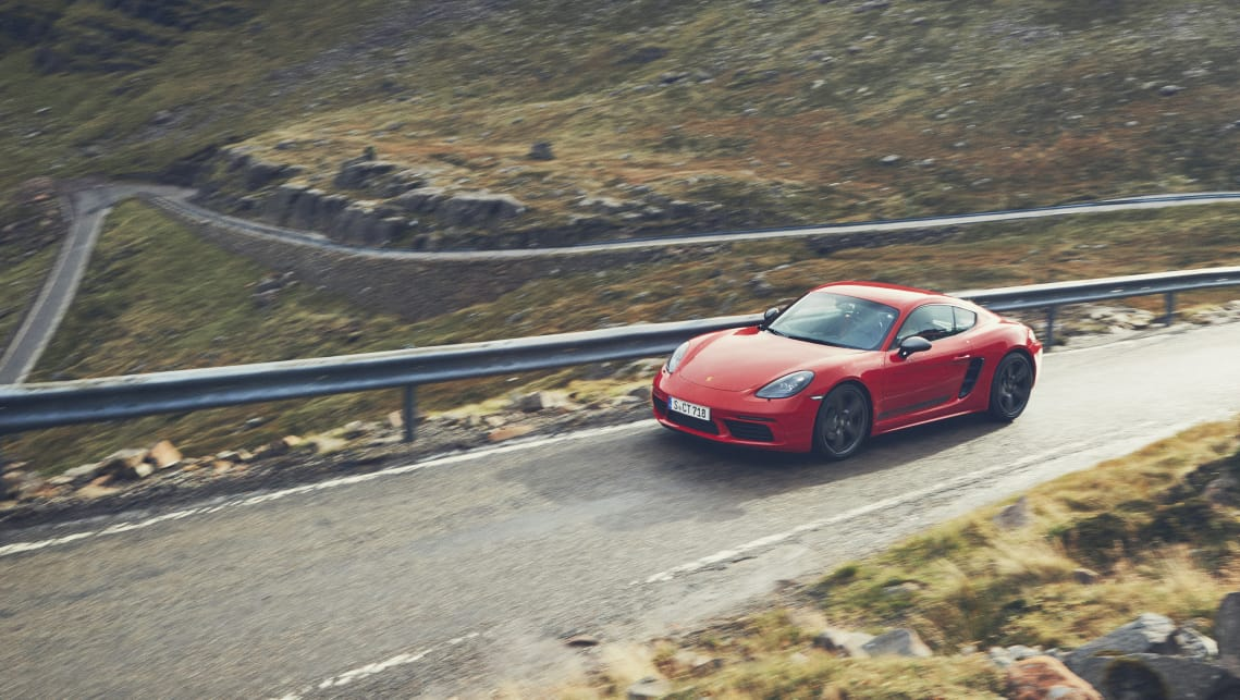 The 718 T fills a gap in the range between the base versions of the coupe and drop-top and the spicier Cayman and Boxster 'S'.