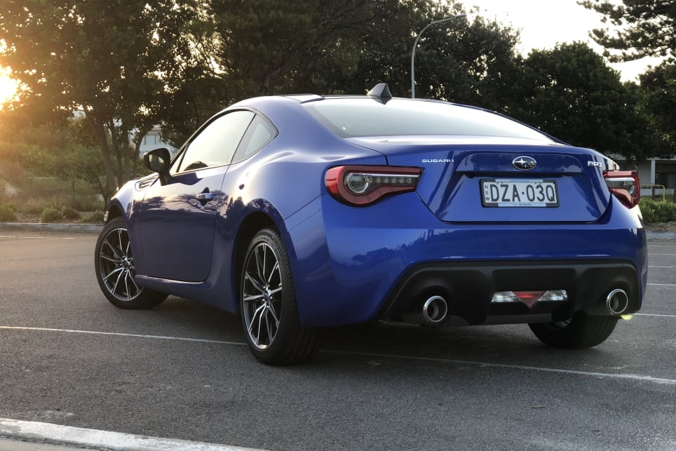 We don't often drive the BRZ because the 86 takes a 9:1 lion's share in sales.