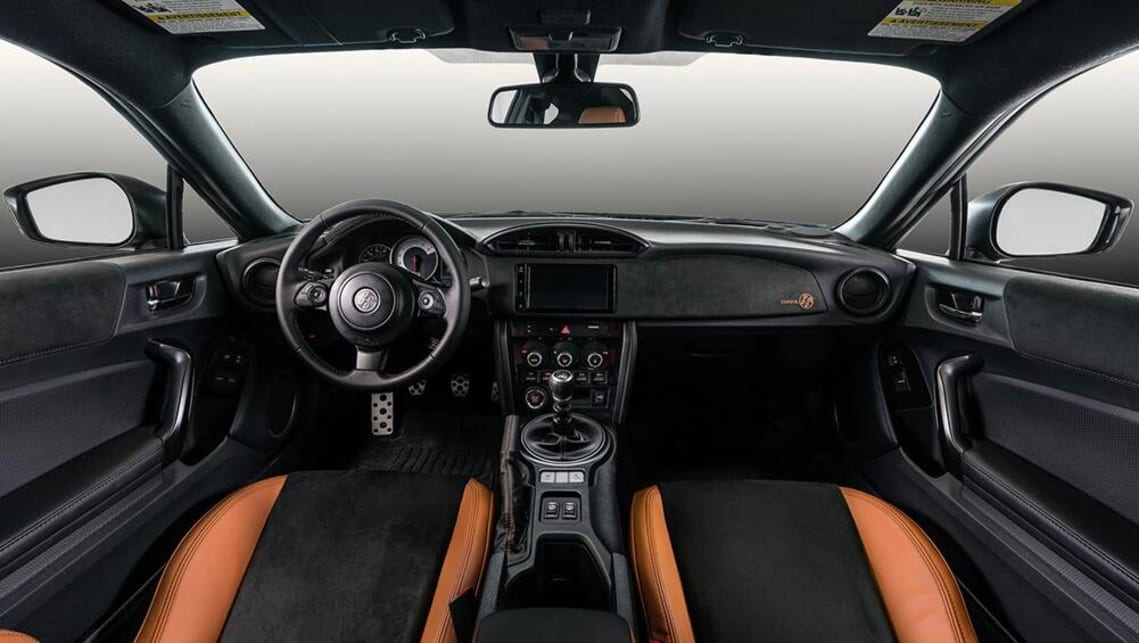 The interior gets a tan and black colour combination.