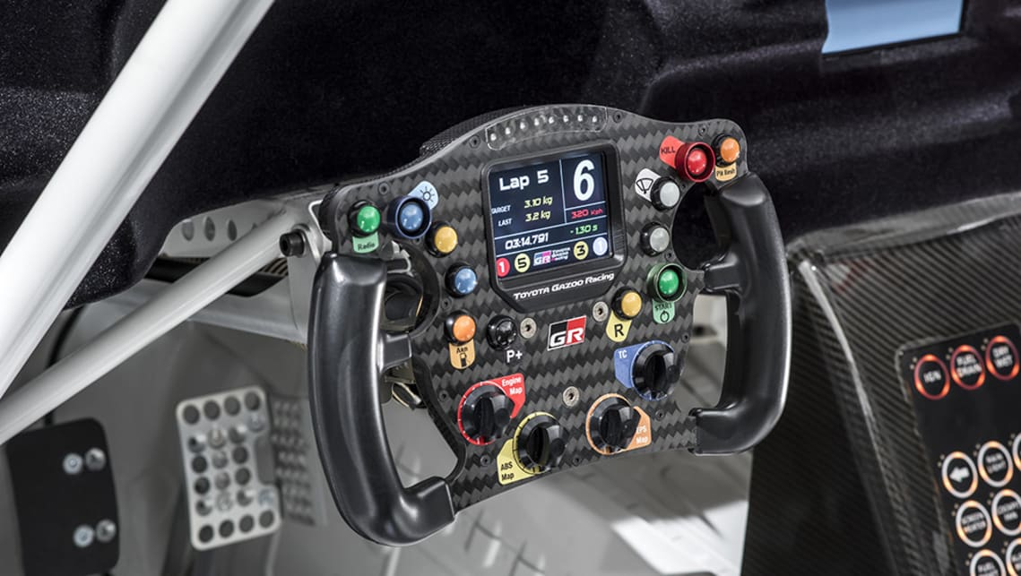 The concept has race-spec paddle shifters mounted behind the steering wheel.