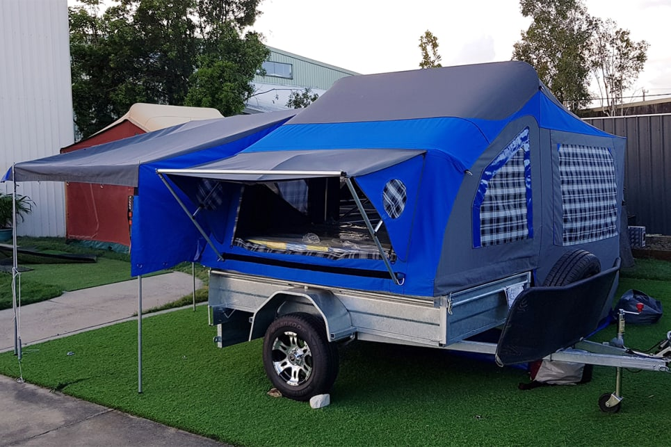 These Aussie camper trailers come in bright colours and are among the least expensive on the market. (image credit: Walkabout Campers/Craig Gall)