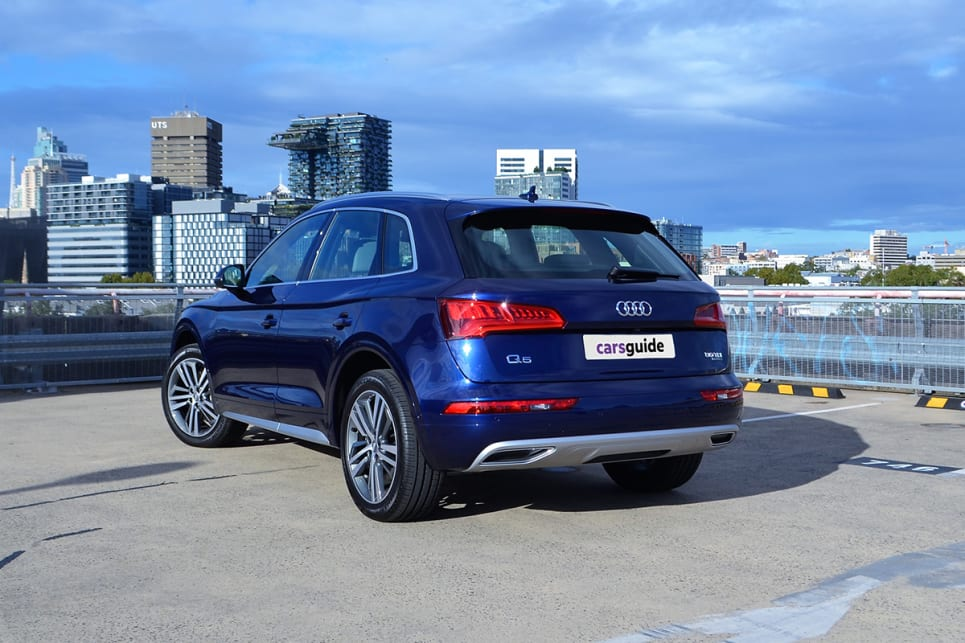 The Q5 50 TDI isn't as blingy as the Benz GLC or as sporty-styled as the BMW X3, but it has a solid, confident look.