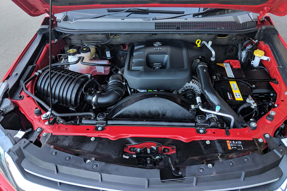 The LSX 4x4 has the same engine as the LS – a 2.8-litre four-cylinder turbo-diesel.