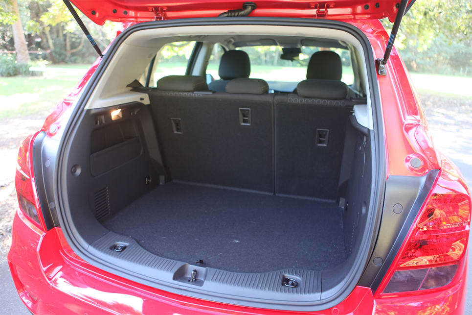 With the rear seats in place, boot space is rated at 356-litres.