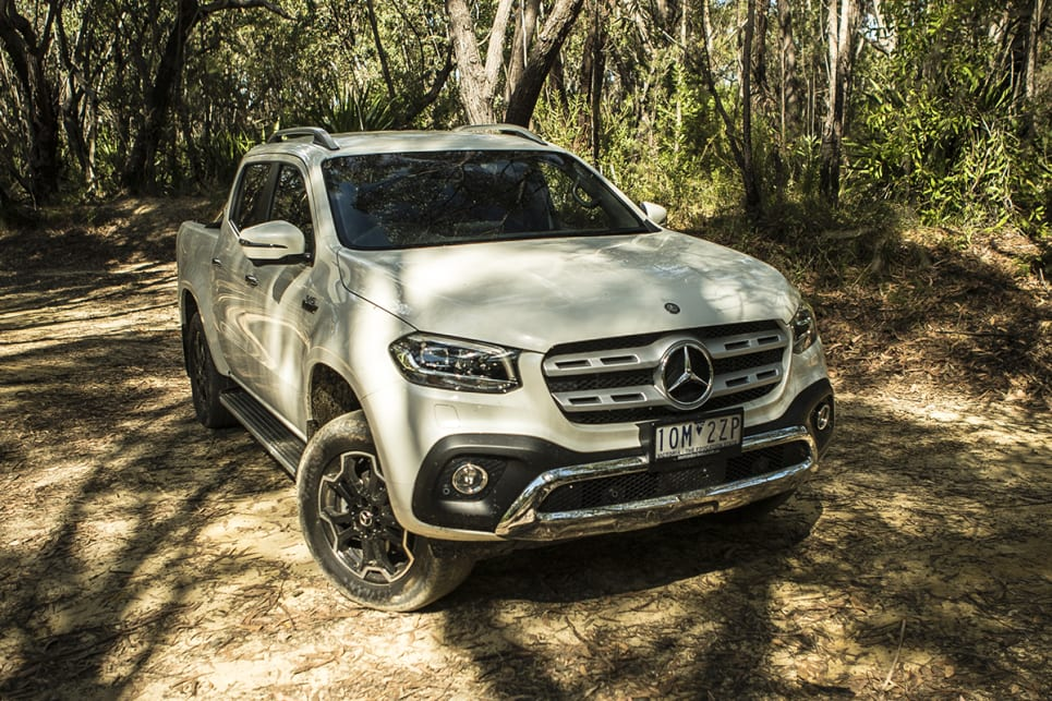 The X-Class has a real tough-truck presence.