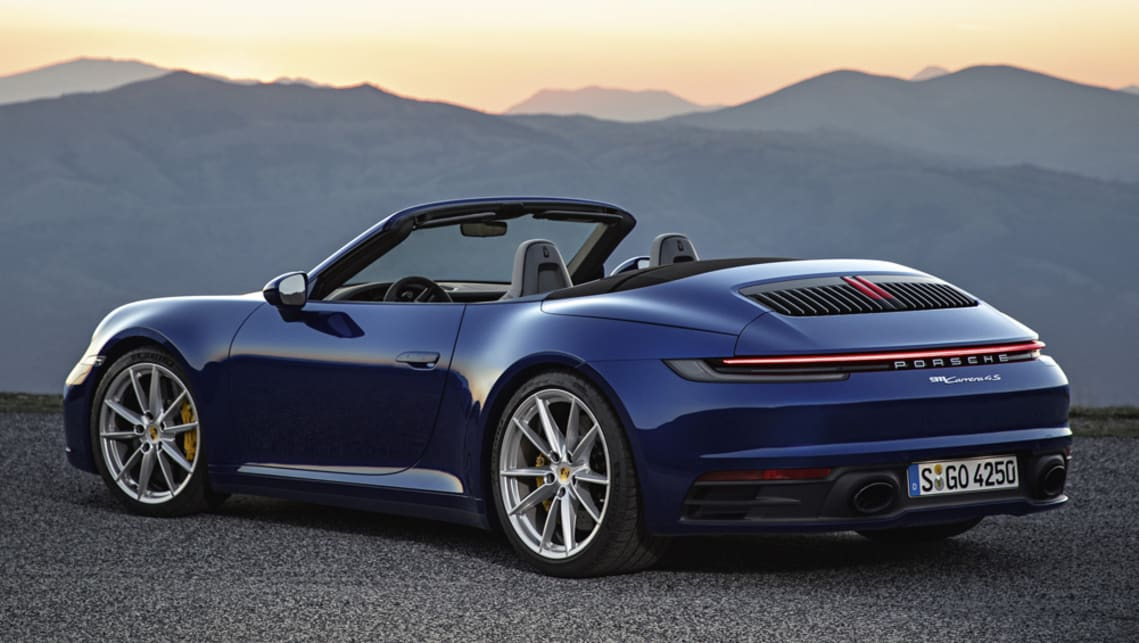 The drop-top body style features an electric-folding fabric roof.