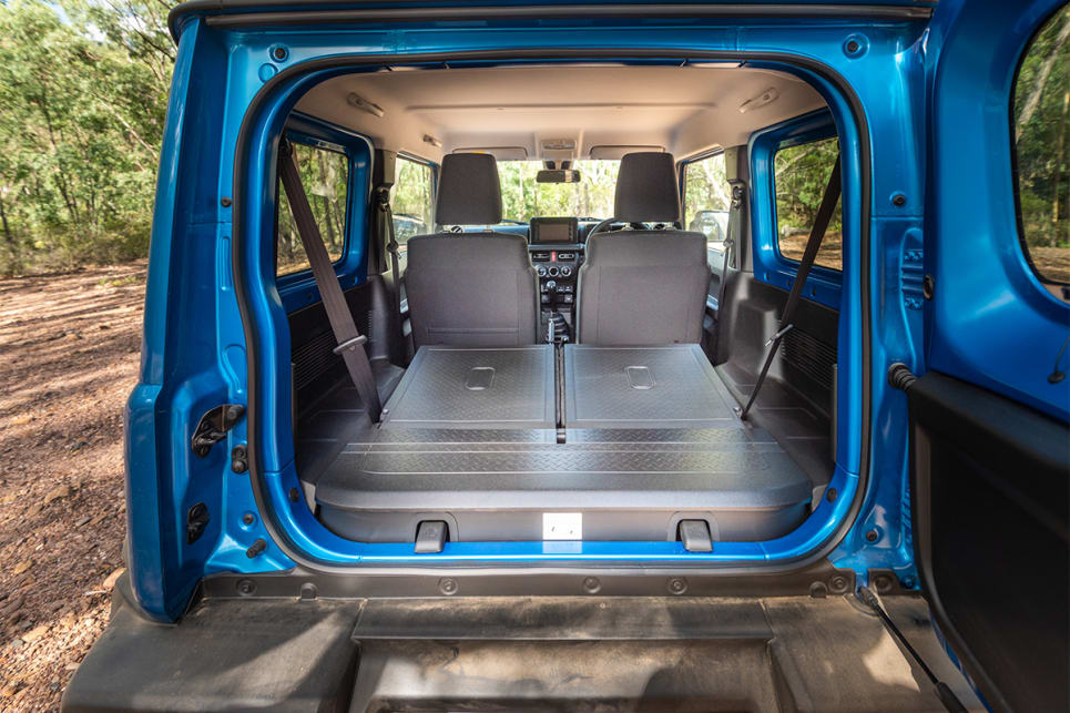 Follow the rear seats back and the cargo area grows to 830-litres VDA.