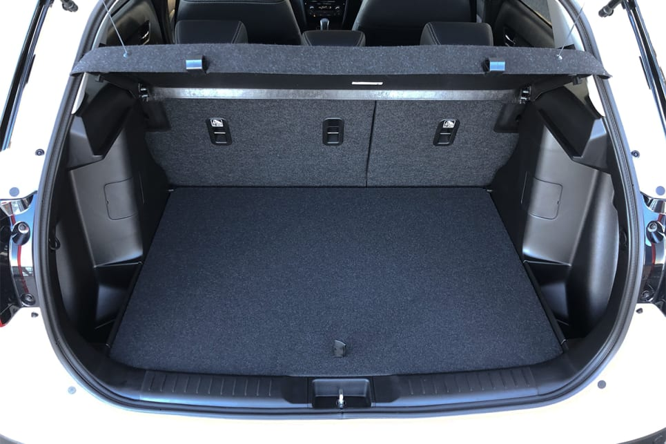 With the rear seats up, boot space is rated at 375 litres.