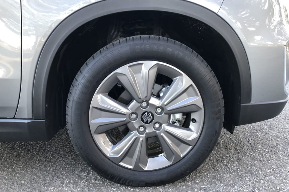 17-inch alloys come standard with the Suzuki Vitara.