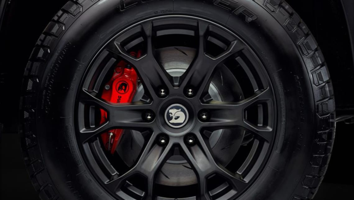 The Colorado scores a set of 18-inch, six-spoke forged-alloy wheels, wrapped in all-terrain rubber.