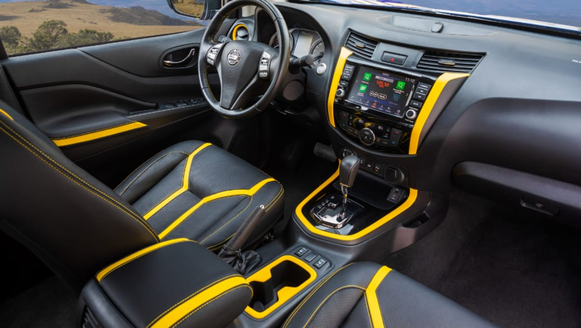 The cabin is trimmed in bright yellow, inspired by electric circuits, creating an exterior and interior colour combo which is unlikely to get lost in a carpark.