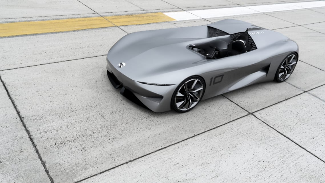 The Prototype 10 concept is merely a window into a possible future, so don't expect the next new Infiniti to arrive with a single open-air seat and no windscreen.
