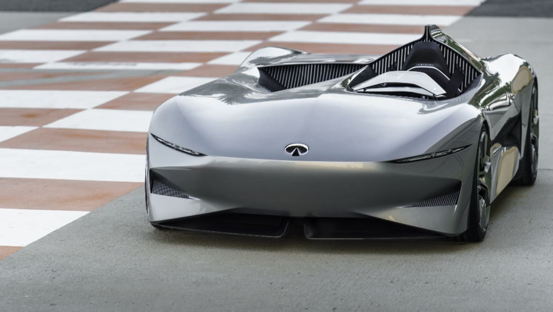 Powertrain details are vague, but we do know the Project 10 is an EV that heralds the future powertrain direction for Infiniti. That will include EVs and hybrids.