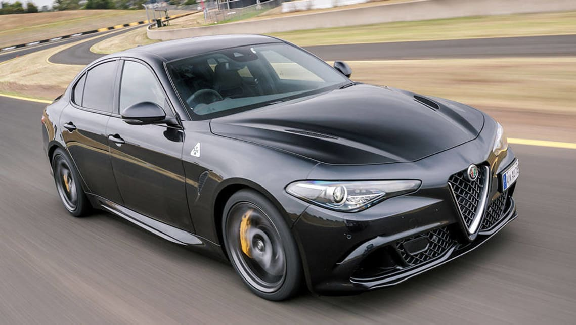 alfa romeo giulia qv 2017 review first australian track drive video carsguide. Black Bedroom Furniture Sets. Home Design Ideas