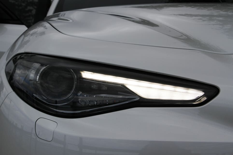 Active bi-xenon headlights, auto wipers and headlights are included as standard. (Image credit: Max Klamus)