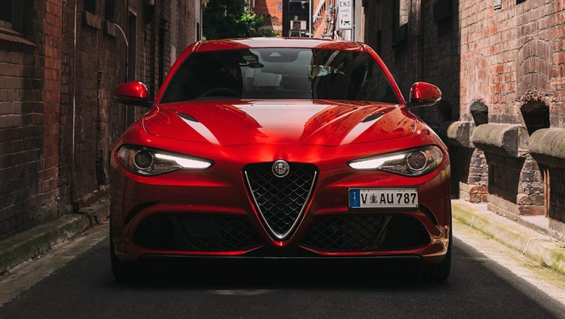 Alfa Romeo Giulia Red Sedan Press Images