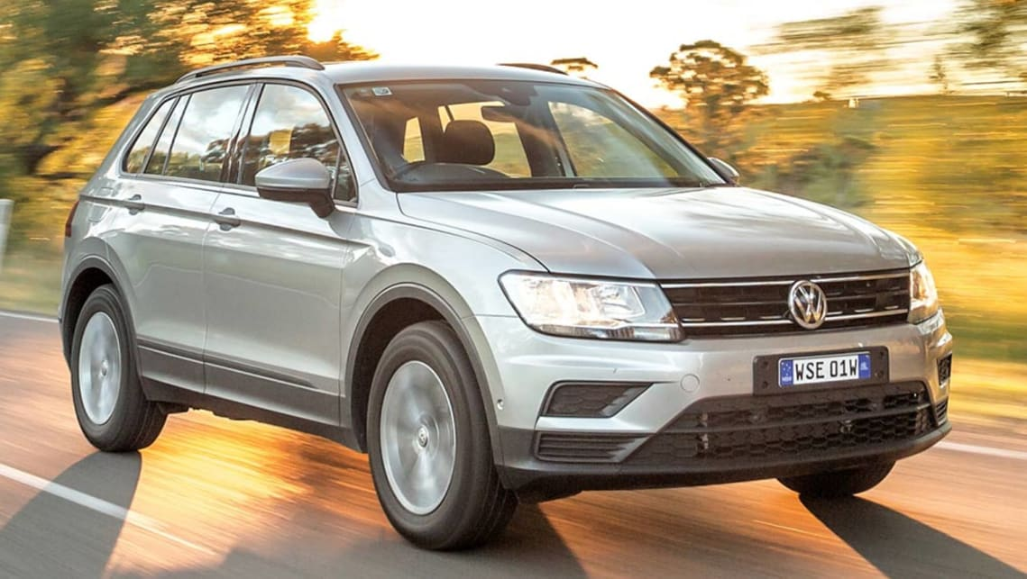 Podium finishers: Car of the Year VW Tiguan. Picture: Thomas Wielecki