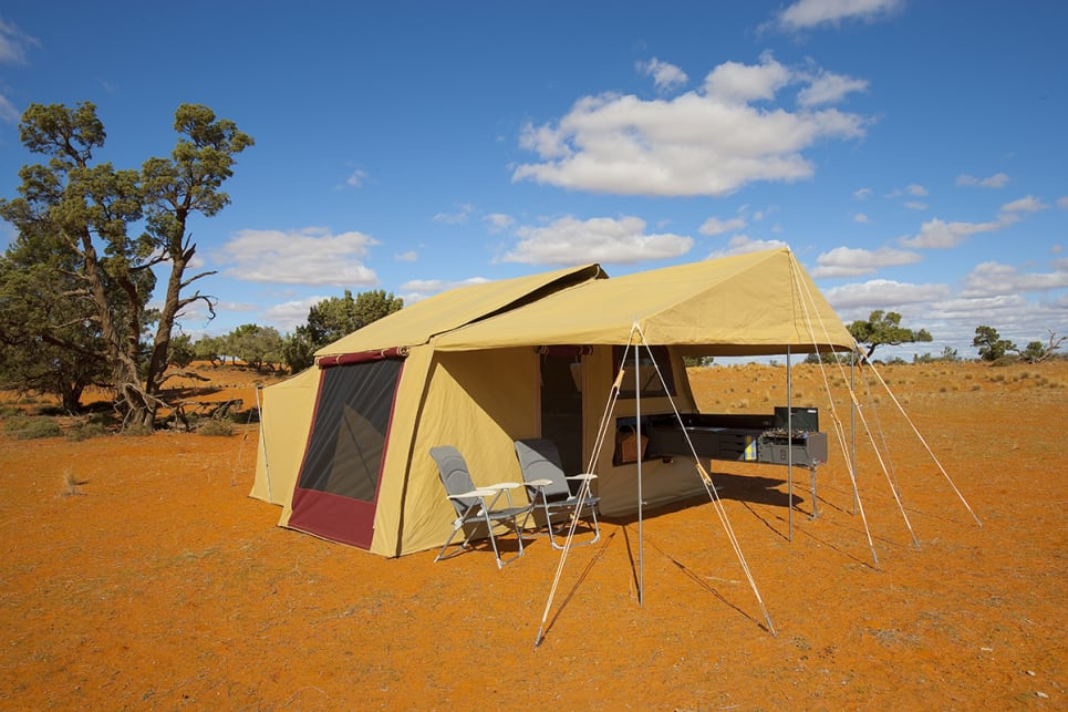 One of Australia's leading canvas workers, Southern Cross Campers have long made some of Australia's most durable and easy to use tents. Image by Southern Cross Canvas.