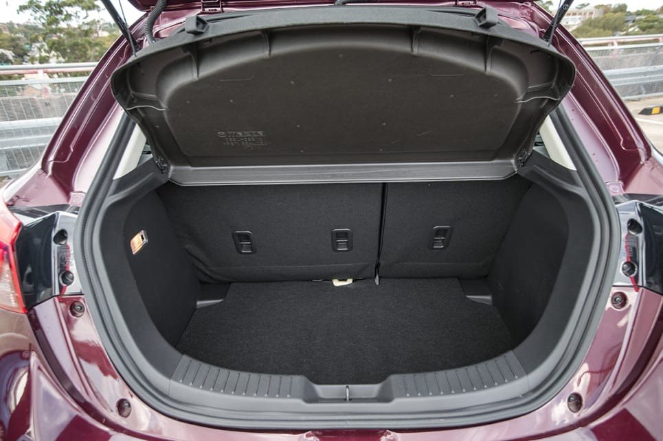 The Mazda was the only car that couldn't fit all three cases - only the two biggest.