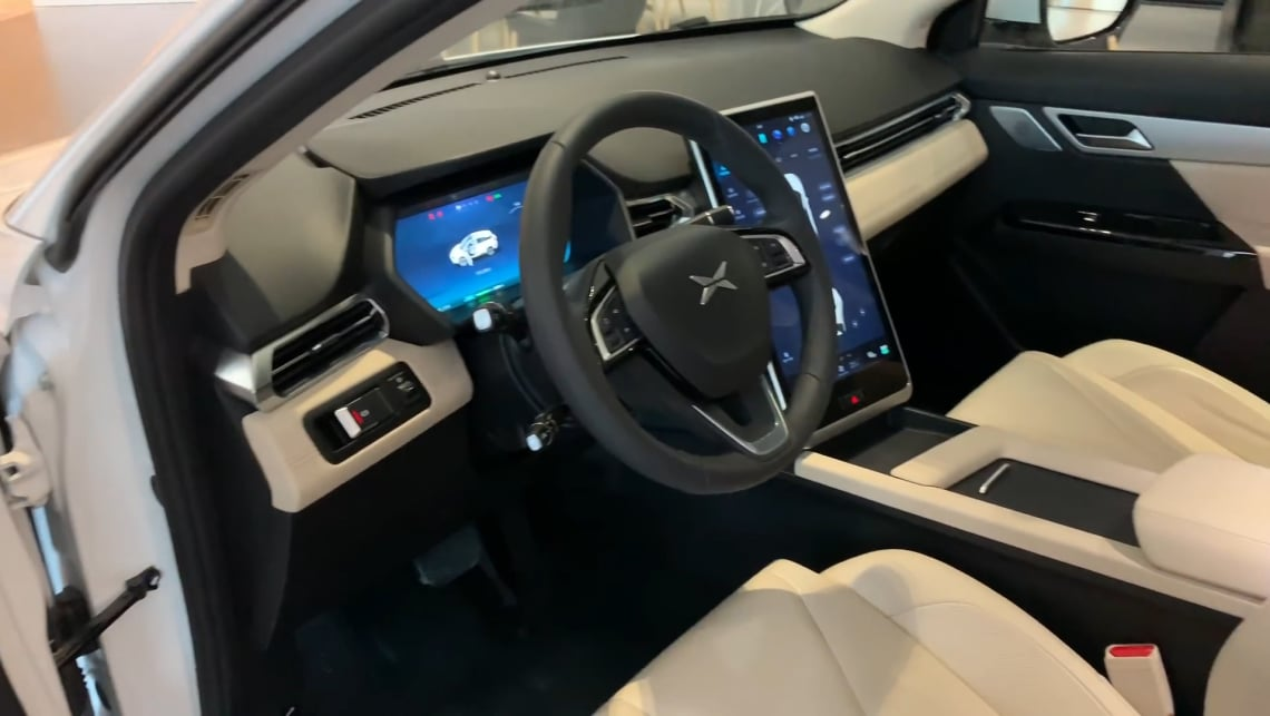 A Chinese car copying American interior decoration which was, in turn, inspired by pale Nordic minimalism. Wait, what?