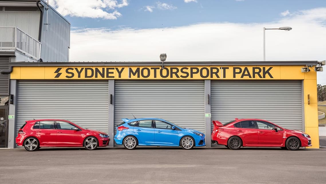 Ford Focus RS Volkswagen Golf R and Subaru WRX STI 2016 review