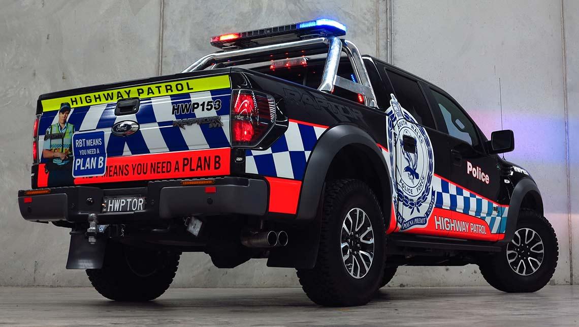 ford  raptor  toughest police car  australia car news carsguide