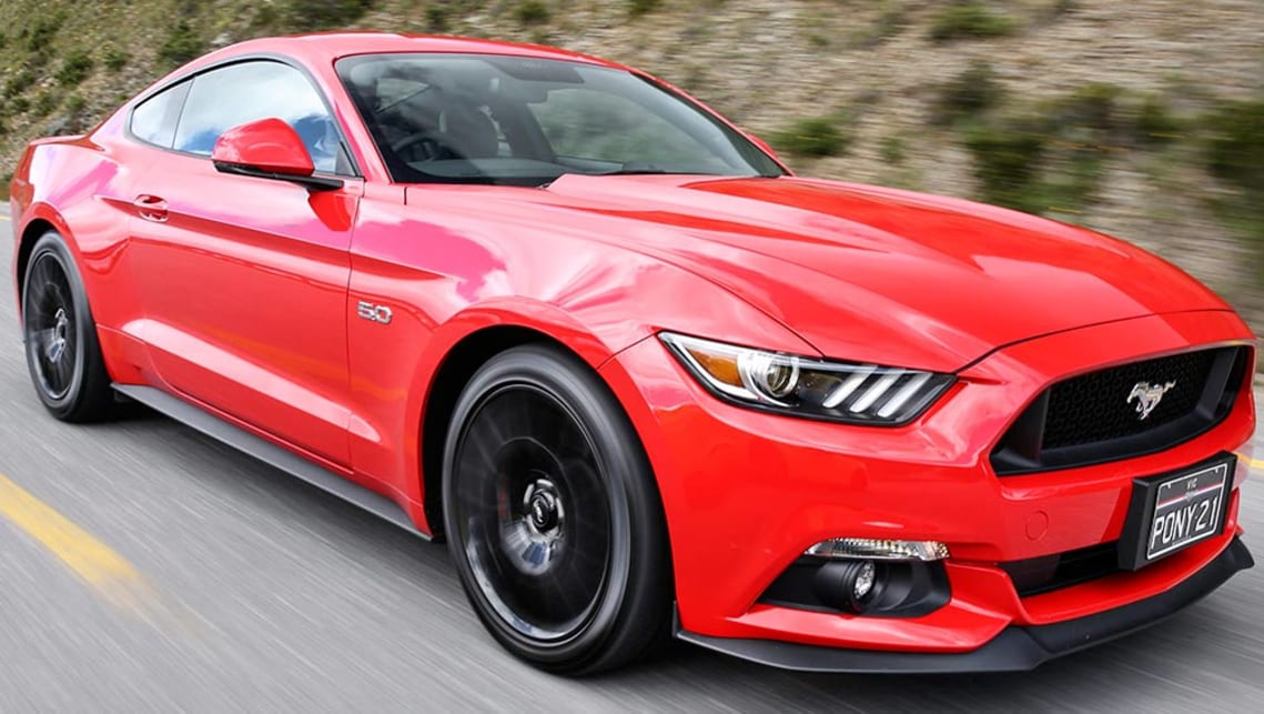 ford mustang v8 gt coupe 2016 review carsguide. Black Bedroom Furniture Sets. Home Design Ideas