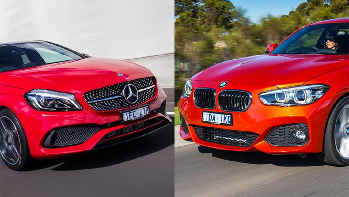 Mercedes benz a250 vs bmw m135i review carsguide for Bmw mercedes benz
