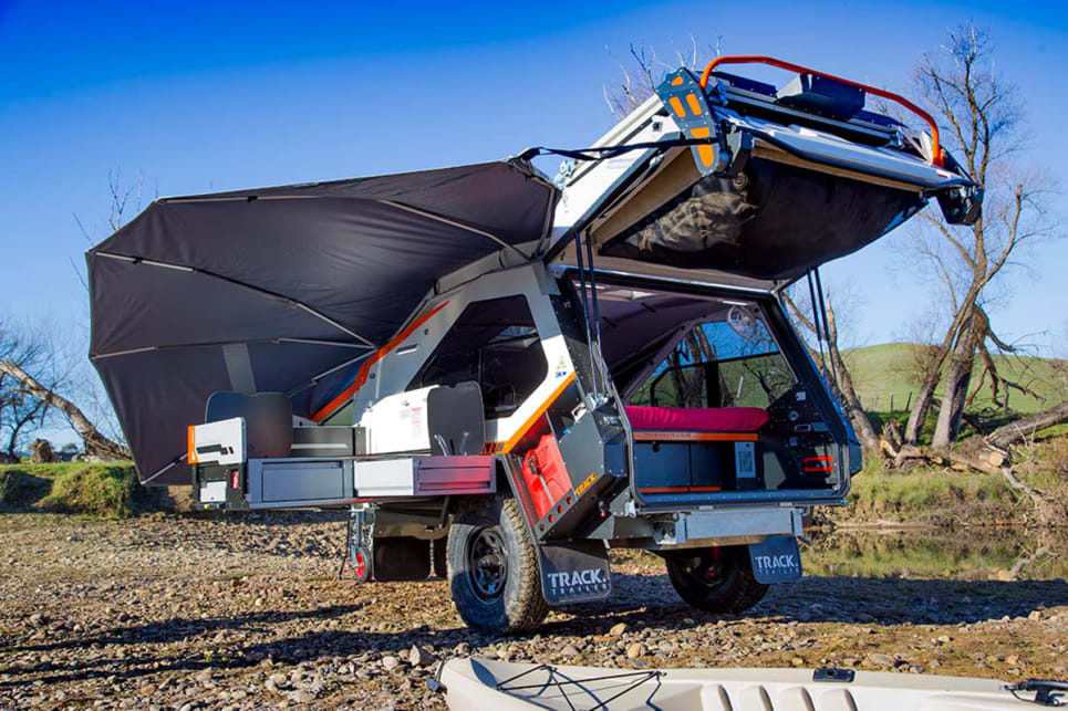 Who knew a teardrop camper could be so darn cool? Images by Track Trailer.