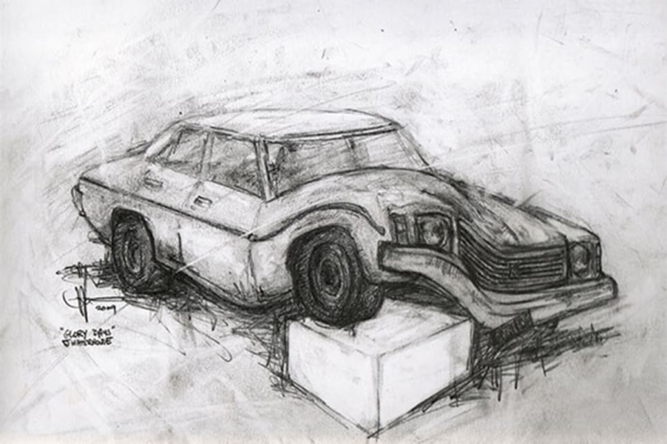 The drawing of the art piece. (image credit: Survivor Car Australia)