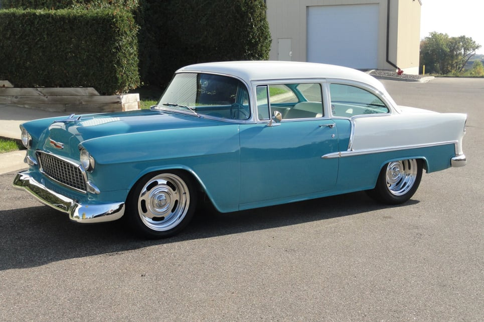 Gary's previous work was a 1955 Chev with a marine V12 under the hood. (image credit: Holly Performance Products/Facebook)
