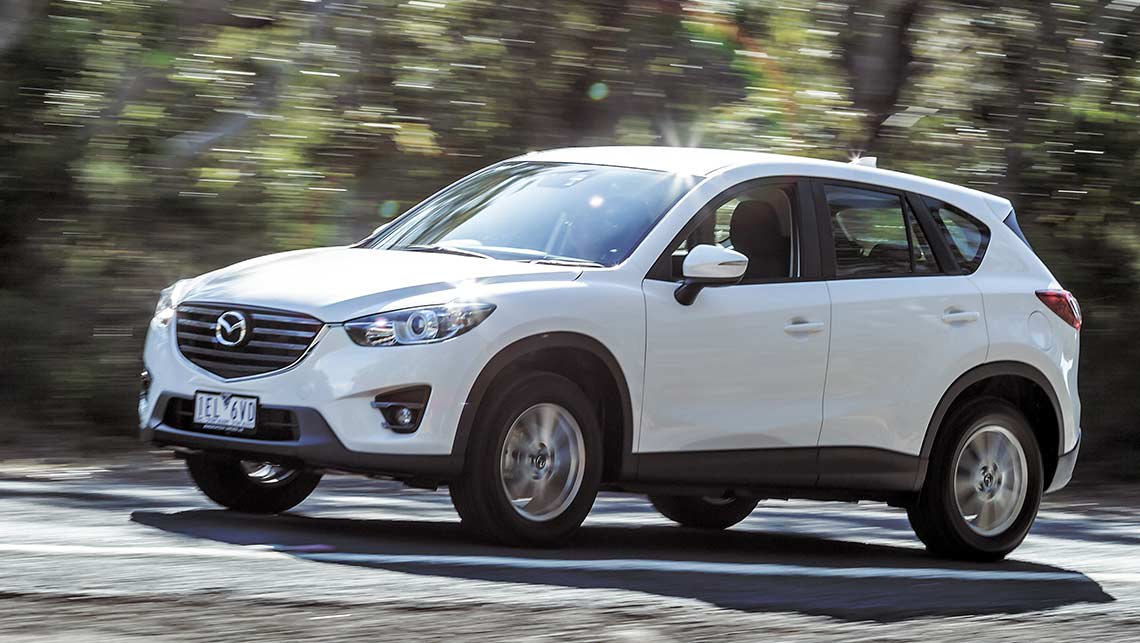 Hyundai Tucson Active X, Mazda CX-5 Maxx Sport and Nissan X-Trail ST 2015 review | midsize SUV ...
