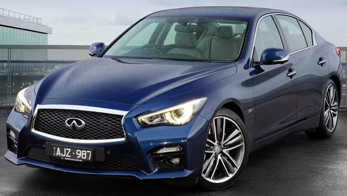 infiniti q50 red sport variant shown