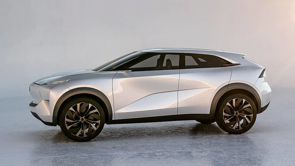 The design of the QX inspiration foreshadows the brand's first all-electric production model.