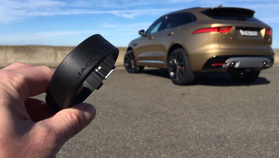 Jaguar F Pace Scores Bond Style Wristband Key Car News