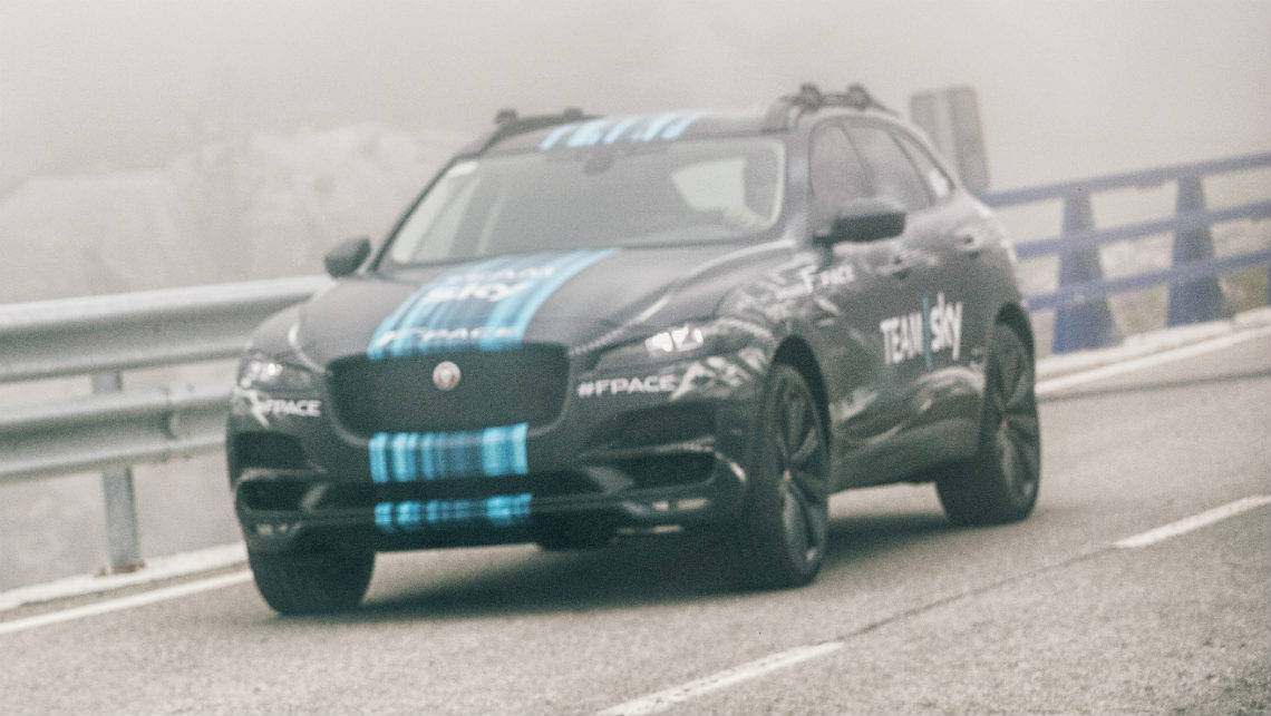 Jaguar F-Pace SUV set for Tour de France support - Car News | CarsGuide
