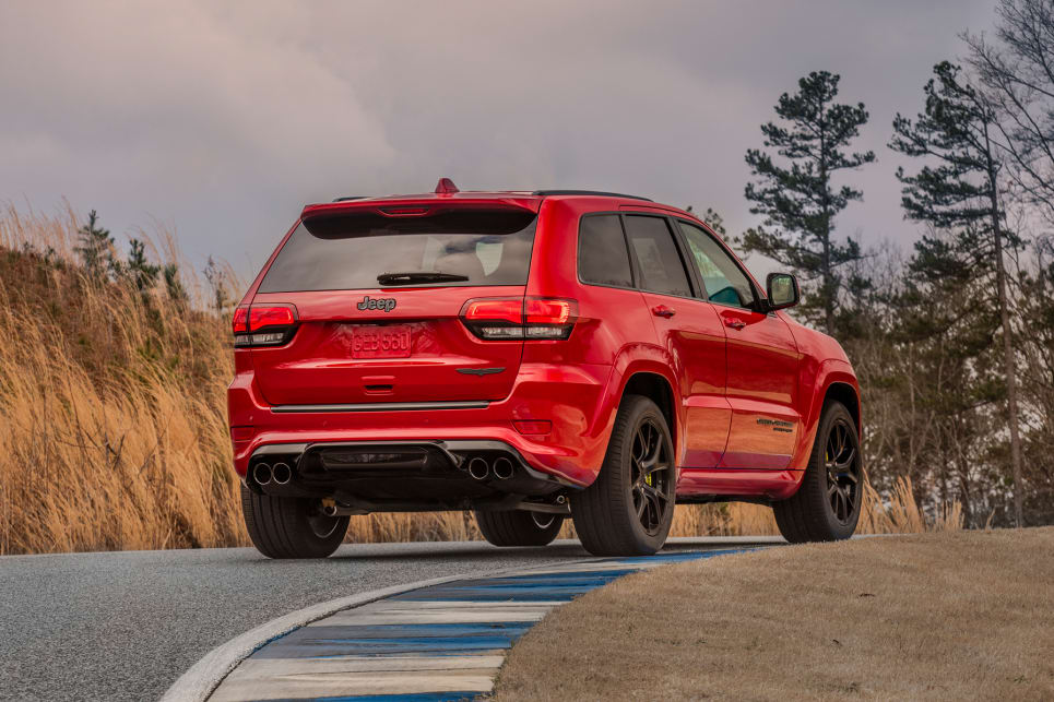 jeep grand cherokee trackhawk 2018 price and specification confirmed car news carsguide. Black Bedroom Furniture Sets. Home Design Ideas