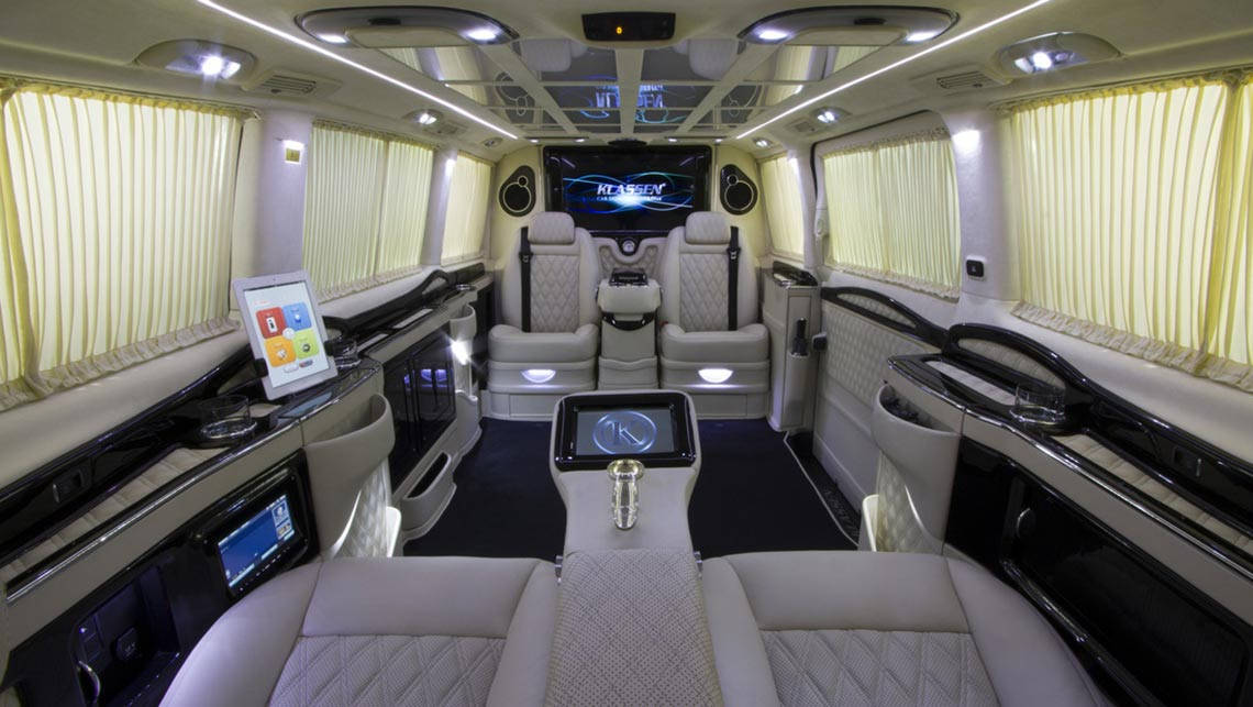 klassen reveals stretched and pimped mercedes benz vito car news carsguide. Black Bedroom Furniture Sets. Home Design Ideas