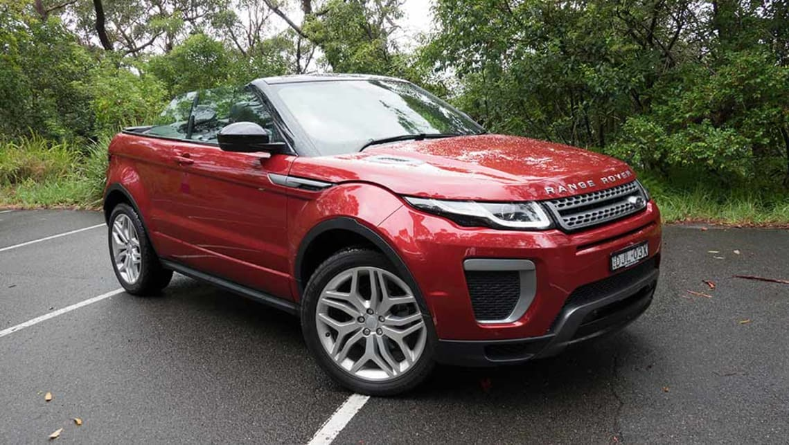 land rover range rover evoque se dynamic td4 180 convertible 2017 review carsguide. Black Bedroom Furniture Sets. Home Design Ideas